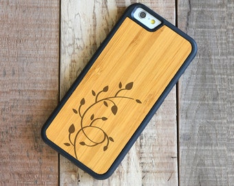 Bamboo Floral iPhone 6 Case - iPhone 6 Bamboo Case - Floral - SHK-B-I6-VINE