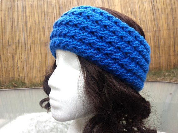 Free Crochet Patterns For Wide Headbands : PATTERN DOWNLOAD Wide Crochet Cabled Earwarmer Headband by ...