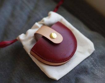 Handmade camera lens Cap leather Case