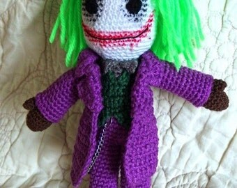 cotton crochetmade The Joker figurine