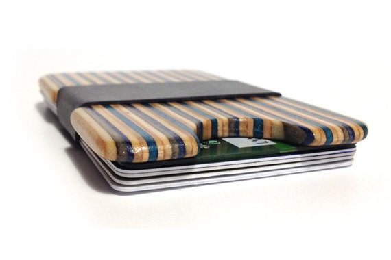 Minimalist Slim Wallet made from Recycled Skateboards