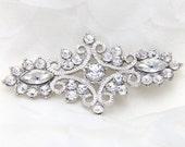 Rhinestone appliqué, Rhinestone brooch craft,Crystal,Wedding rhinestone hair, Bridal dress rhinestone sash craft - Nothing at Back, NO PIN