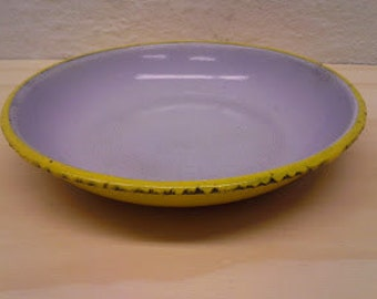 Charming 1940s/1950s danish Glud & Marstrand enamel dish / soup plate