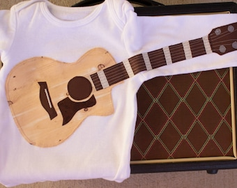 Delightfully Fun Wood Grain Guitar Outift with Strings
