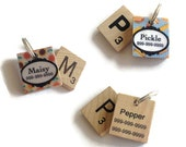 Scrabble Dog ID Tags - Pet Tag - Dog ID Tags - Unique Dog Tag