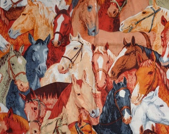 Brown Packed Horse Fabric