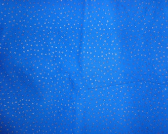 Blue Sparkle/Glitter  Cotton Fabric by the Yard