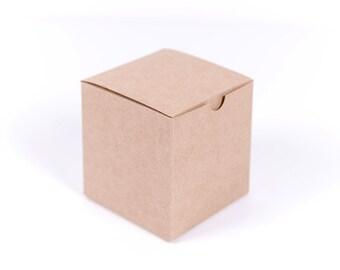10 Kraft Gift Boxes 6x6x6