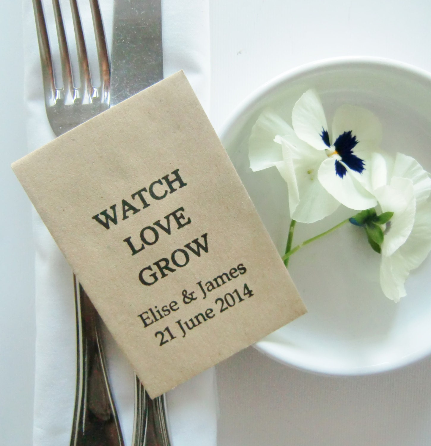 Wedding Favors Seed Packets Watch Love By IzzyandLoll On Etsy