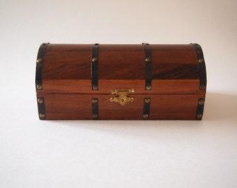 Vintage Mahogany Trinket Box
