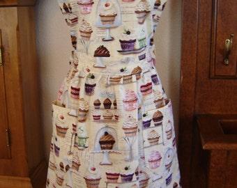 Elegant Cupcakes Bib Style Apron
