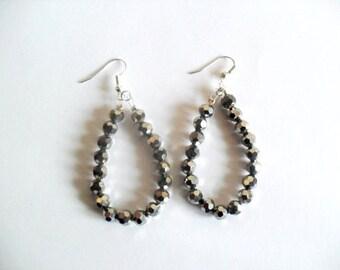 Matalic Silver Earrings
