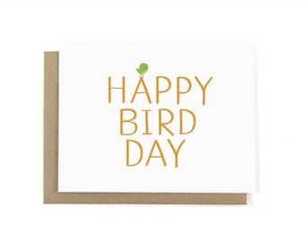 Happy Bird-Day Birthday Card w/ Envelope