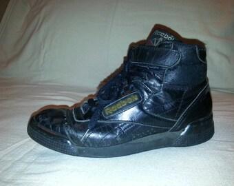 Womens Black Reebok Hightop Sports Shoes size 6.5 US, 39 EUR, 6 UK