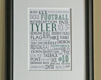 Personalized Sports Print- Football