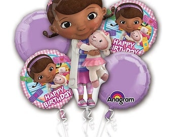 Doc mcstuffins Balloon Bouquet, birthday decorations, party supplies, birthday gift, special occasion also available Frozen