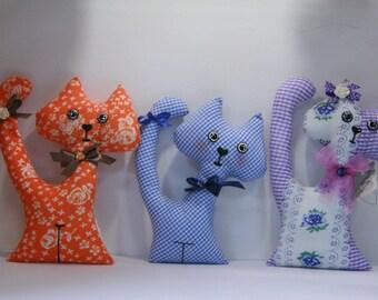 Cat of the bright chintz, handmade.