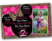 Minnie Mouse Invitation, Minnie Mouse Birthday, Pink Minnie Mouse invitations, Minnie Mouse party, Cheetah