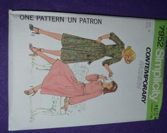Simplicity 7952 Misses  Dress Sewing Pattern - UNCUT - Sizes 12