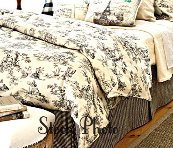 Sale Toile Duvet Full Size Lenoxdale White Cream Black