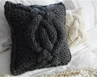 MADE TO ORDER- Twisted Cable Knit Pillow