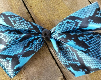 Snake skin design hair bow