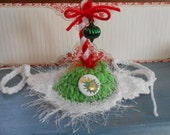 The Grinch  Cat or Dog Hats Crocheted Christmas Elf Whoville Inspired Fashion or Cindy Lou Who Costume