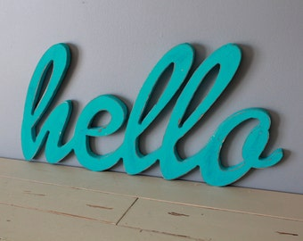 Hello Sign Wall Letters Wall Words