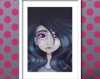 Marceline Adventure Time  A4 Giclee Prints.