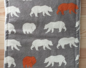 Bear Organic Burp Cloth