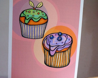 Muffins: A4 giclee print