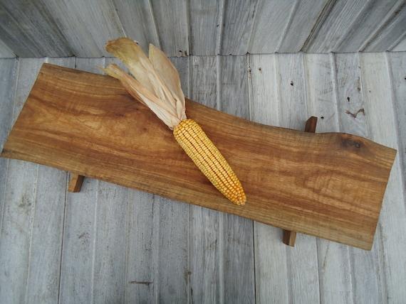 natural edge red elm table runner long wooden by osborneartwork, Kitchen design