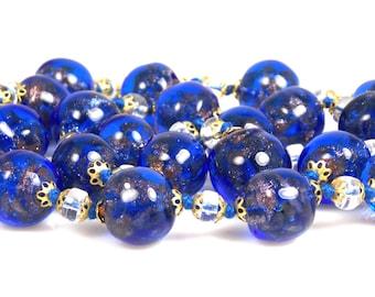 Murano Glass Cobalt Blue Necklace