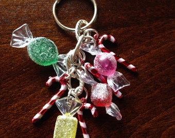 Christmas candy keychain. Sale!!!! This Month Only!!!!