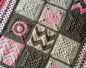 Pattern - BabyLove Brand Modern Patchwork Blanket - Crochet Pattern/Tutorial - rectangle throw - blanket is also available