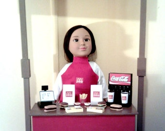 """American Girl, Our Generation, My Life, 18"""" Doll Sized McDonalds Restaurant Playset"""