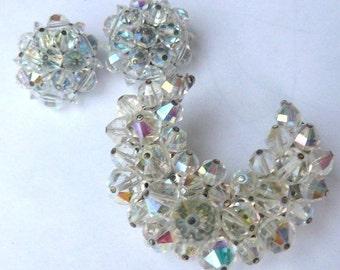 Moon brooch Appear Unworn 1970 jewelry vintage laguna jewelry collectible luguna crystal moon jewelry
