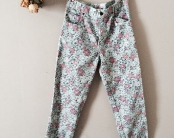 Floral High-Waisted Jeans