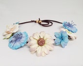 Reserved for Erica- Flower Halo - Music Festival Wear, Coachella, Rave, Ezoo or any occasion - Medium Bloom - Multi color