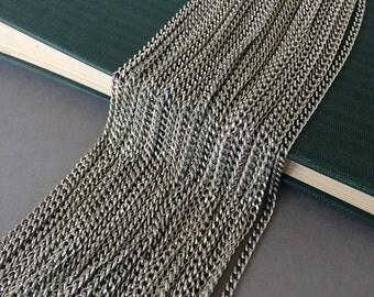Silver Ox Curb Chain, Small Curb Chain, Silver Curb Chain, 6 Ft