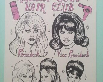 Really good hair club print