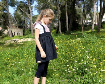 Dirndl, Girls Dirndl, Oktoberfest Kids Dirndl, Oktoberfest Girls Dress, Girls Dirndl Dress, Size 4, Bavarian Girl Outfit, Girls Black Dress,