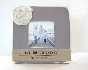 Grandma Grammy GIFT Mother's Day Personalized Picture Frame for Granny Grandmother Nanny Mimi Yaya