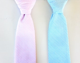 Boys neck tie, baby neck tie, pink tie for boys, blue tie, ring bearer tie, toddler tie, wedding tie, toddler wedding outfit, kids tie
