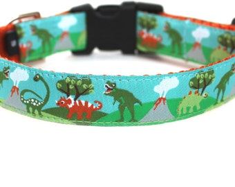 Dinosaur Dog Collar, Cute, Small Dog Collar, Boy Dog Collar - Dinosaurs