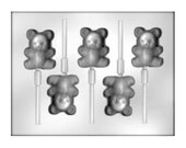 Teddy Bear Chocolate Lollipop Sucker Mold - Baby - Party Favors - Baking Candy Making Party Supplies