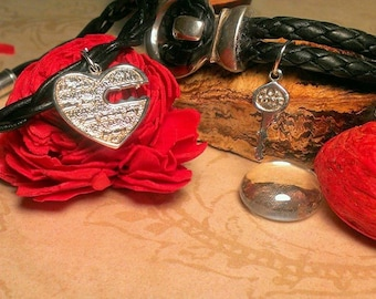 Couples Bracelets (He who holds the key can unlock my heart)