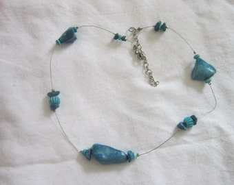 Vintage Native American Faux Turquoise Necklace