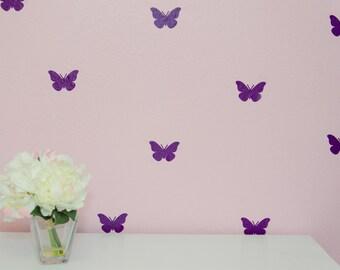 """3"""" Indoor Vinyl Butterfly Decals in 14 Color Options"""