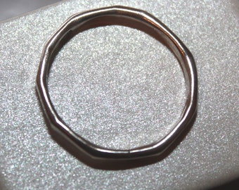 Hammered Silver Ring Size 9